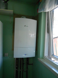 Boiler fitted